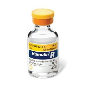 Humulin R Vial 100 Units / mL